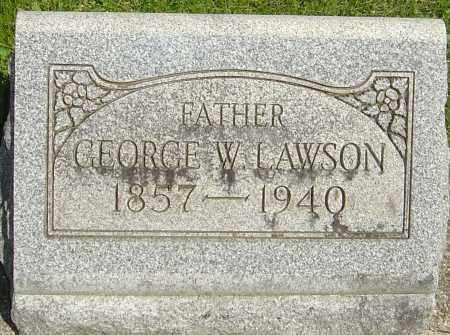 LAWSON, GEORGE W - Montgomery County, Ohio | GEORGE W LAWSON - Ohio Gravestone Photos