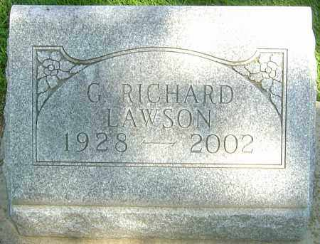 LAWSON, G RICHARD - Montgomery County, Ohio | G RICHARD LAWSON - Ohio Gravestone Photos