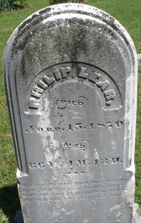LEAR, PHILIP - Montgomery County, Ohio   PHILIP LEAR - Ohio Gravestone Photos