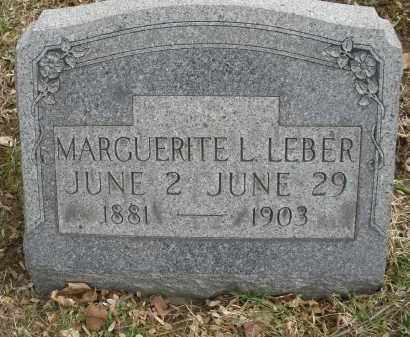 LEBER, MARGUERITE L. - Montgomery County, Ohio | MARGUERITE L. LEBER - Ohio Gravestone Photos