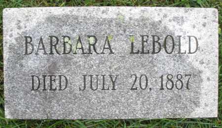 LEBOLD, BARBARA - Montgomery County, Ohio | BARBARA LEBOLD - Ohio Gravestone Photos