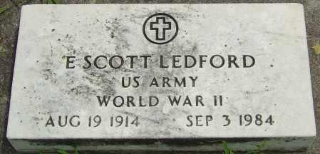 LEDFORD, ELMER SCOTT - Montgomery County, Ohio   ELMER SCOTT LEDFORD - Ohio Gravestone Photos
