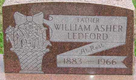 LEDFORD, WILLIAM ASHER - Montgomery County, Ohio | WILLIAM ASHER LEDFORD - Ohio Gravestone Photos