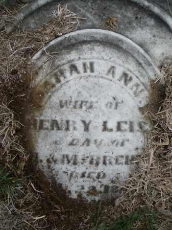 LEIS, SARAH ANN - Montgomery County, Ohio   SARAH ANN LEIS - Ohio Gravestone Photos