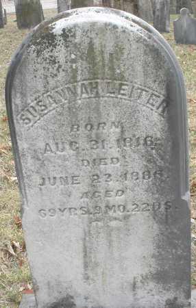 LEITER, SUSANNAH - Montgomery County, Ohio   SUSANNAH LEITER - Ohio Gravestone Photos