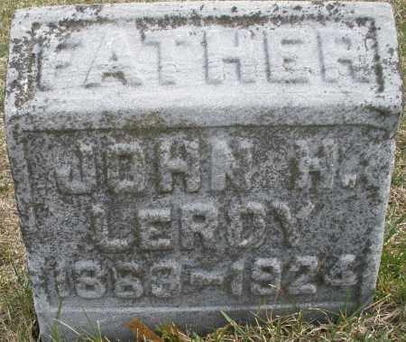 LEROY, JOHN H. - Montgomery County, Ohio   JOHN H. LEROY - Ohio Gravestone Photos
