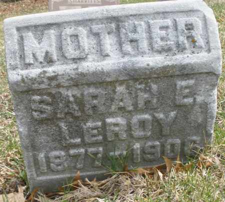 LEROY, SARAH E. - Montgomery County, Ohio | SARAH E. LEROY - Ohio Gravestone Photos