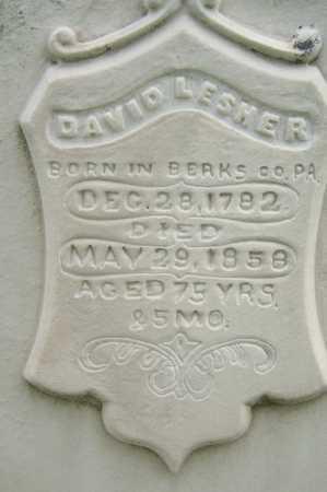 LESHER, DAVID - Montgomery County, Ohio | DAVID LESHER - Ohio Gravestone Photos