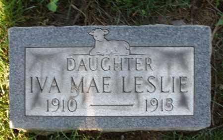 LESLIE, IVA MAE - Montgomery County, Ohio   IVA MAE LESLIE - Ohio Gravestone Photos