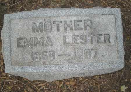 LESTER, EMMA - Montgomery County, Ohio   EMMA LESTER - Ohio Gravestone Photos