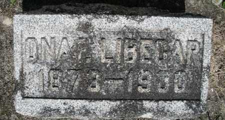 LIBECAP, ONA - Montgomery County, Ohio   ONA LIBECAP - Ohio Gravestone Photos