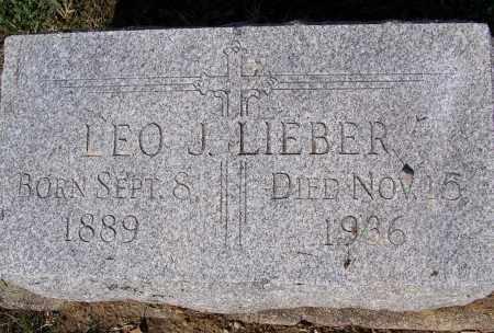 LIEBER, LEO J. - Montgomery County, Ohio | LEO J. LIEBER - Ohio Gravestone Photos