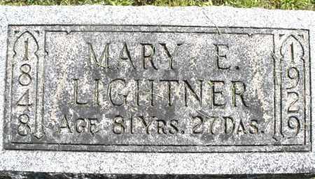 LIGHTNER, MARY E. - Montgomery County, Ohio | MARY E. LIGHTNER - Ohio Gravestone Photos