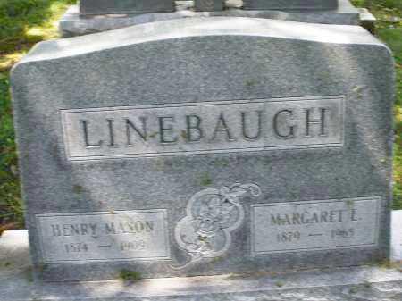 LINEBAUGH, MARGARET E. - Montgomery County, Ohio | MARGARET E. LINEBAUGH - Ohio Gravestone Photos