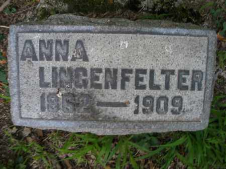 LINGENFELTER, ANNA - Montgomery County, Ohio | ANNA LINGENFELTER - Ohio Gravestone Photos