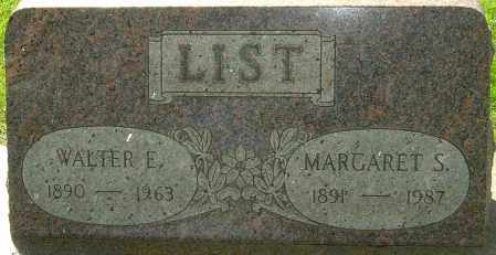 LIST, MARGARET S - Montgomery County, Ohio | MARGARET S LIST - Ohio Gravestone Photos