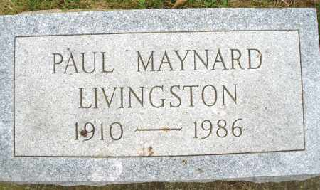LIVINGSTON, PAUL MAYNARD - Montgomery County, Ohio | PAUL MAYNARD LIVINGSTON - Ohio Gravestone Photos