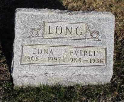 LONG, EDNA - Montgomery County, Ohio | EDNA LONG - Ohio Gravestone Photos