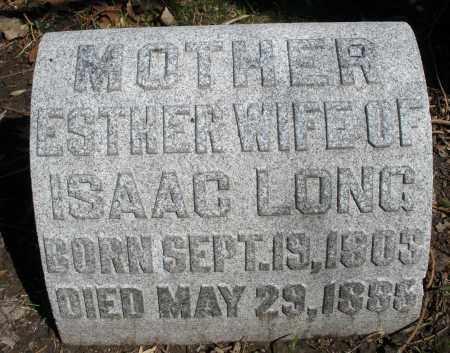 LONG, ESTHER - Montgomery County, Ohio | ESTHER LONG - Ohio Gravestone Photos