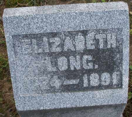 LONG, ELIZABETH - Montgomery County, Ohio | ELIZABETH LONG - Ohio Gravestone Photos