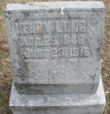 LONG, HENRY - Montgomery County, Ohio   HENRY LONG - Ohio Gravestone Photos