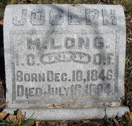 LONG, JOSEPH M. - Montgomery County, Ohio | JOSEPH M. LONG - Ohio Gravestone Photos