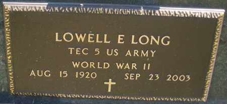 LONG, LOWELL E. - Montgomery County, Ohio   LOWELL E. LONG - Ohio Gravestone Photos