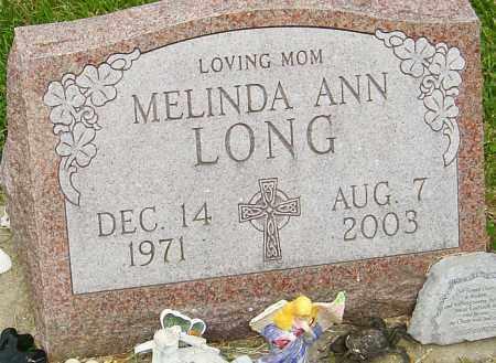 LONG, MELINDA ANN - Montgomery County, Ohio | MELINDA ANN LONG - Ohio Gravestone Photos