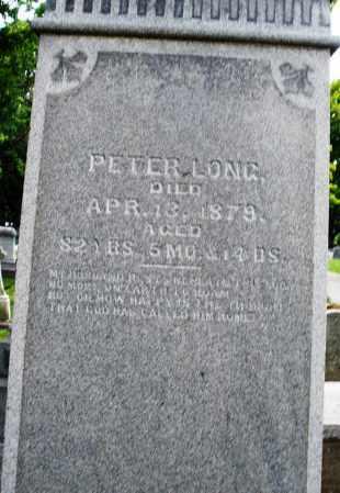 LONG, PETER - Montgomery County, Ohio | PETER LONG - Ohio Gravestone Photos