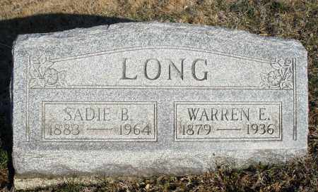 LONG, SADIE B. - Montgomery County, Ohio | SADIE B. LONG - Ohio Gravestone Photos