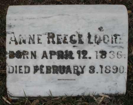 REECE LOORE, ANNE - Montgomery County, Ohio | ANNE REECE LOORE - Ohio Gravestone Photos