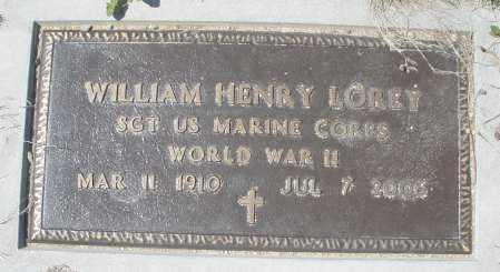 LOREY, WILLIAM HENRY - Montgomery County, Ohio | WILLIAM HENRY LOREY - Ohio Gravestone Photos