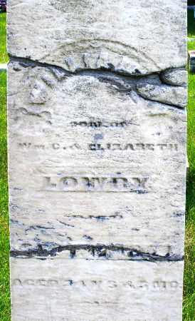 LOWREY, WILLIAM - Montgomery County, Ohio   WILLIAM LOWREY - Ohio Gravestone Photos