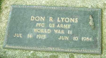 LYONS, DON R - Montgomery County, Ohio | DON R LYONS - Ohio Gravestone Photos