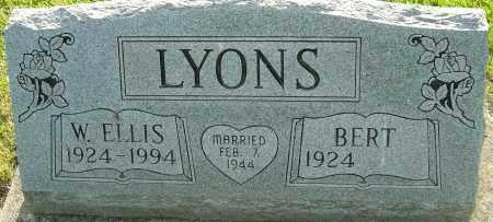 LYONS, W ELLIS - Montgomery County, Ohio   W ELLIS LYONS - Ohio Gravestone Photos