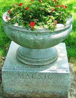 MAGSIG, JANE - Montgomery County, Ohio | JANE MAGSIG - Ohio Gravestone Photos