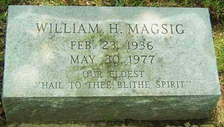 MAGSIG, WILLIAM H - Montgomery County, Ohio   WILLIAM H MAGSIG - Ohio Gravestone Photos