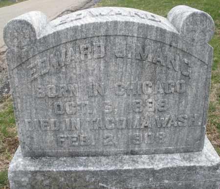 MANG, EDWARD J. - Montgomery County, Ohio   EDWARD J. MANG - Ohio Gravestone Photos