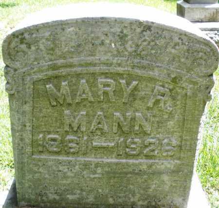 MANN, MARY R. - Montgomery County, Ohio | MARY R. MANN - Ohio Gravestone Photos