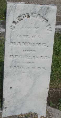 MANNING, CLEMENT W. - Montgomery County, Ohio | CLEMENT W. MANNING - Ohio Gravestone Photos
