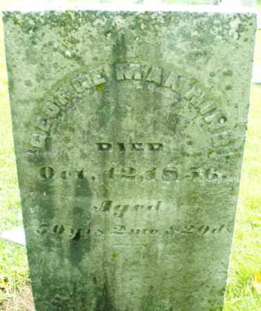 MANNING, GEORGE - Montgomery County, Ohio | GEORGE MANNING - Ohio Gravestone Photos