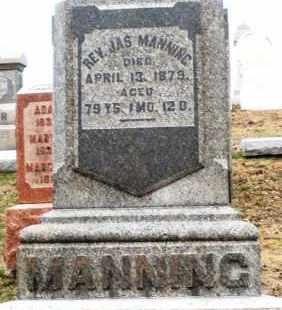 MANNING, JAMES - Montgomery County, Ohio | JAMES MANNING - Ohio Gravestone Photos