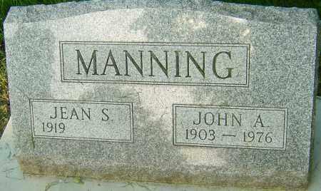MANNING, JOHN A - Montgomery County, Ohio | JOHN A MANNING - Ohio Gravestone Photos