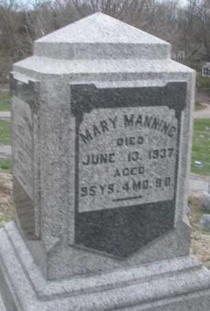 MANNING, MARY - Montgomery County, Ohio | MARY MANNING - Ohio Gravestone Photos
