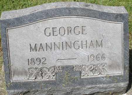 MANNINGHAM, GEORGE - Montgomery County, Ohio   GEORGE MANNINGHAM - Ohio Gravestone Photos