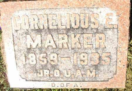 MARKER, CORNELIOUS E. - Montgomery County, Ohio | CORNELIOUS E. MARKER - Ohio Gravestone Photos