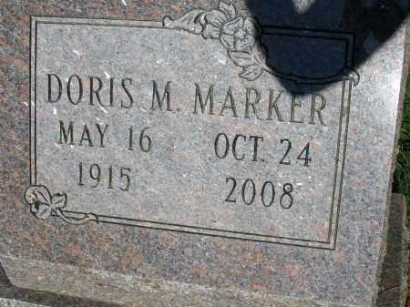 MARKER, DORIS M. - Montgomery County, Ohio | DORIS M. MARKER - Ohio Gravestone Photos