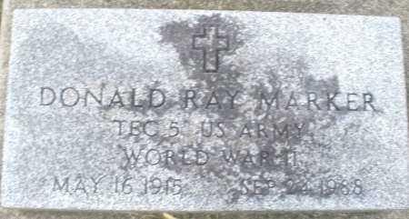 MARKER, DONALD RAY - Montgomery County, Ohio | DONALD RAY MARKER - Ohio Gravestone Photos