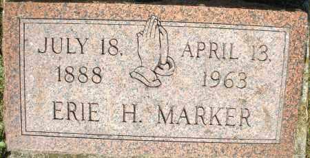 MARKER, ERIE H. - Montgomery County, Ohio   ERIE H. MARKER - Ohio Gravestone Photos