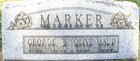 MARKER, OLIVE MAUD - Montgomery County, Ohio | OLIVE MAUD MARKER - Ohio Gravestone Photos